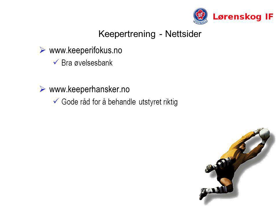 Keepertrening - Nettsider