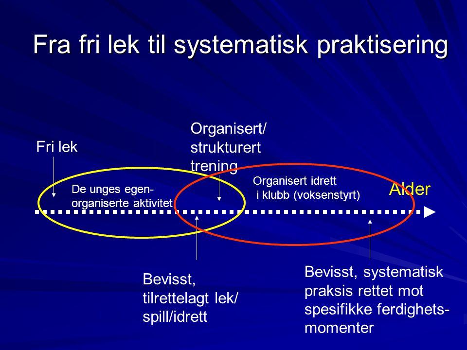 Fra fri lek til systematisk praktisering