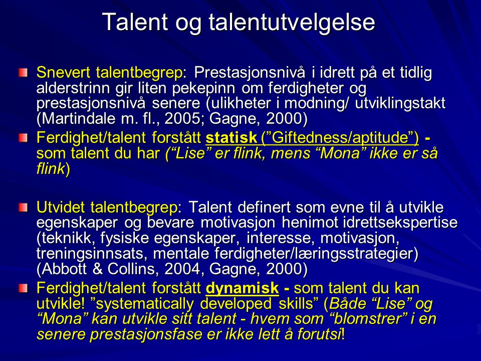 Talent og talentutvelgelse