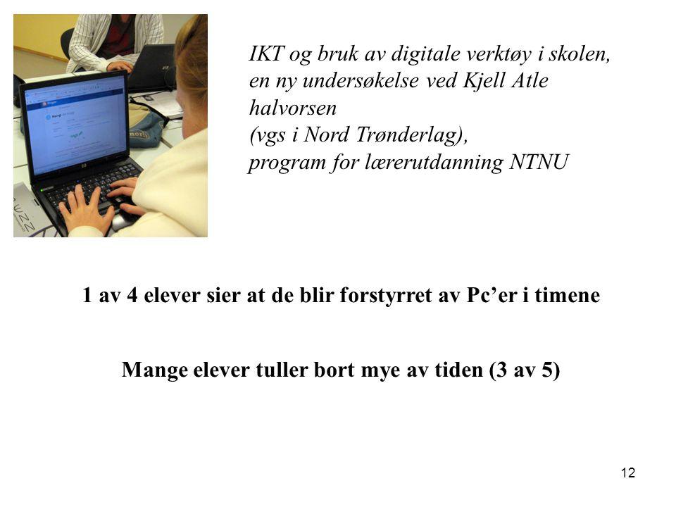 IKT og bruk av digitale verktøy i skolen,