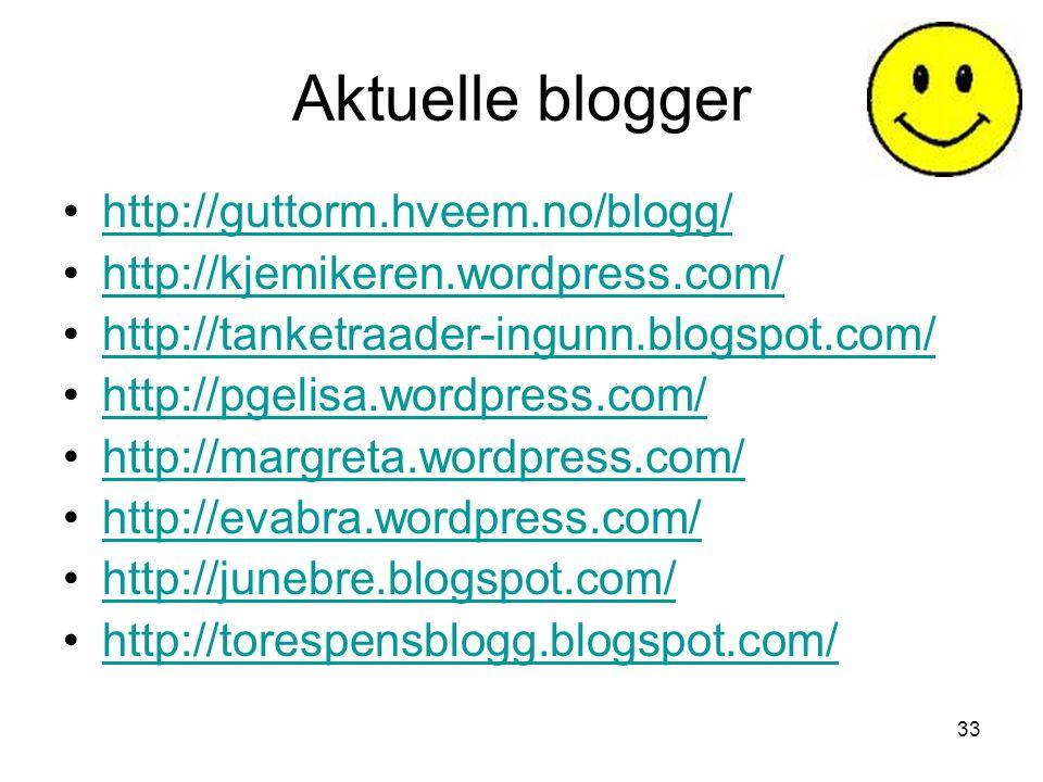 Aktuelle blogger http://guttorm.hveem.no/blogg/