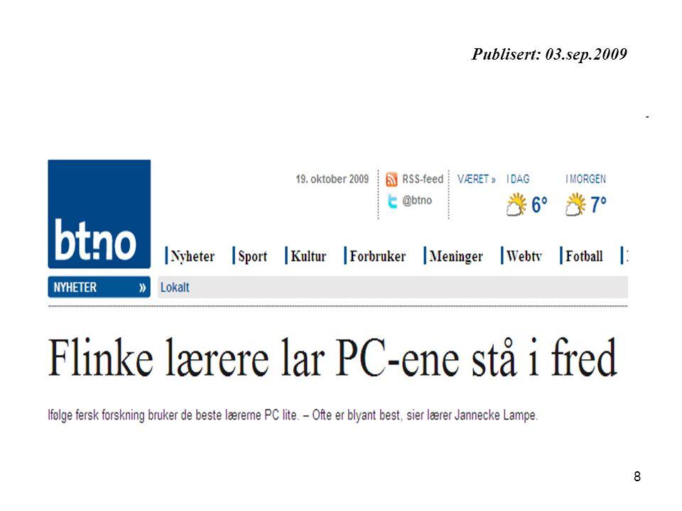 Publisert: 03.sep.2009