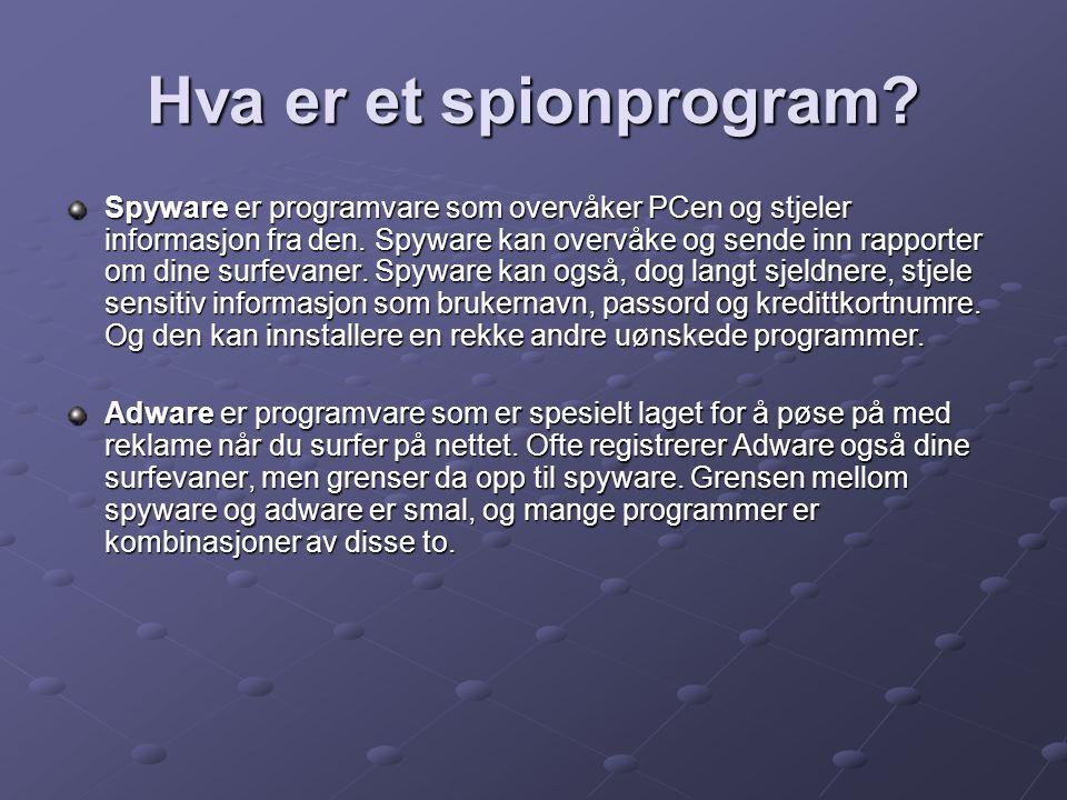 Hva er et spionprogram