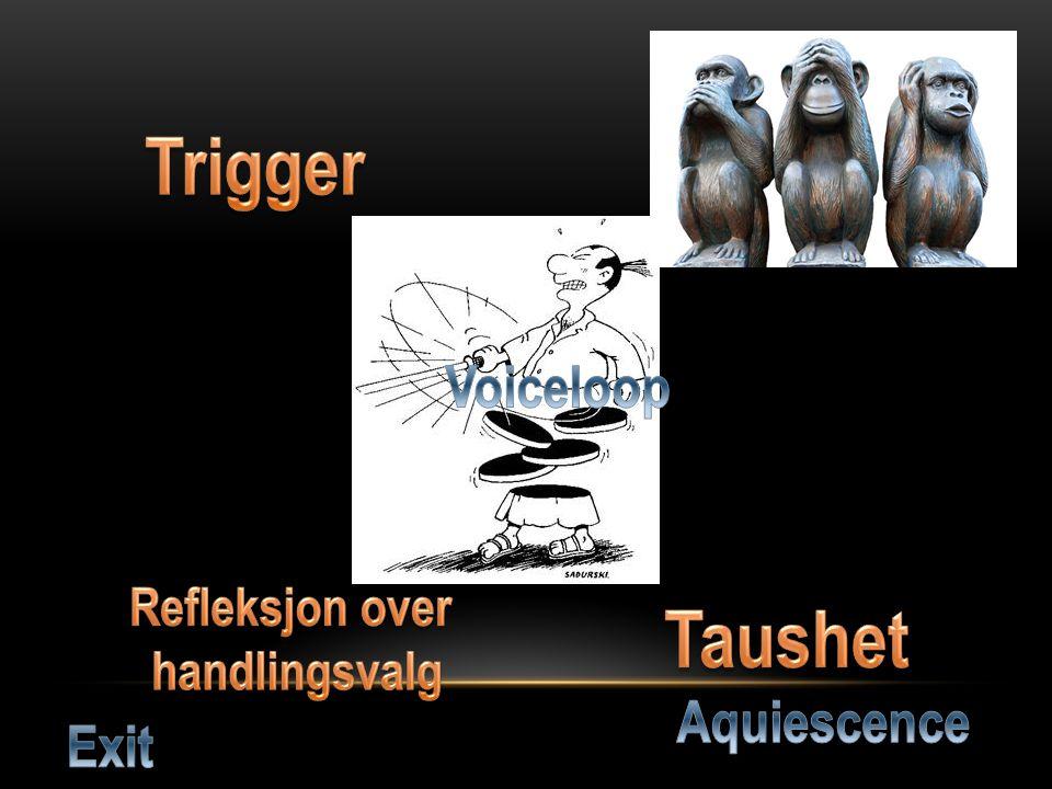 Trigger Taushet Voiceloop Aquiescence Exit Avledet oppmerksomhet