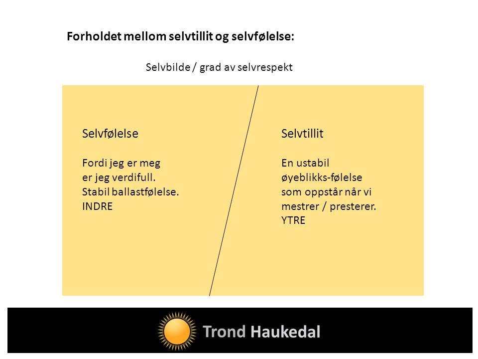 Forholdet mellom selvtillit og selvfølelse: