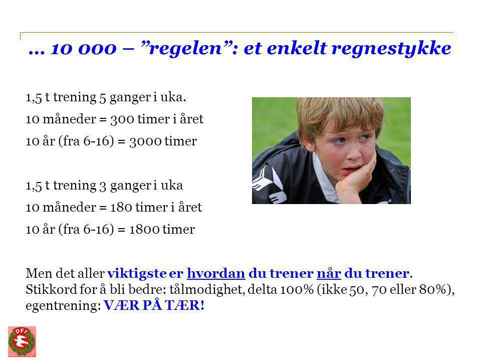 … 10 000 – regelen : et enkelt regnestykke
