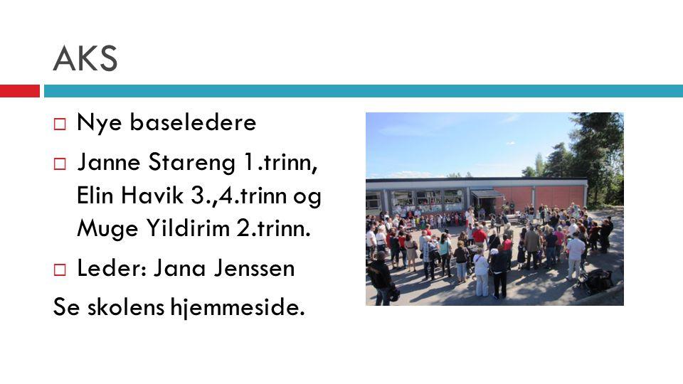 AKS Nye baseledere. Janne Stareng 1.trinn, Elin Havik 3.,4.trinn og Muge Yildirim 2.trinn. Leder: Jana Jenssen.