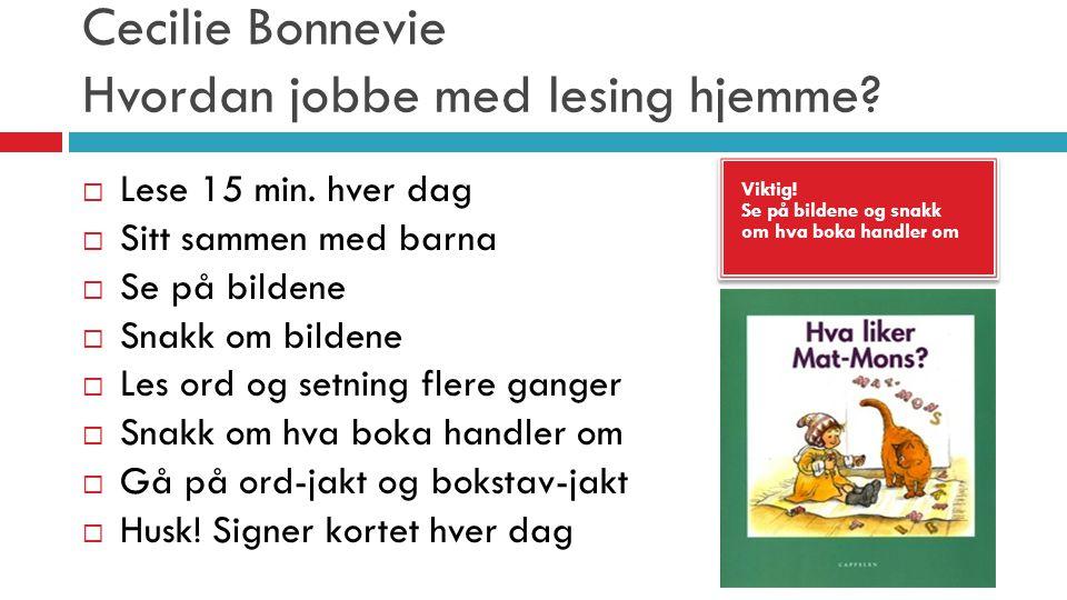 Cecilie Bonnevie Hvordan jobbe med lesing hjemme