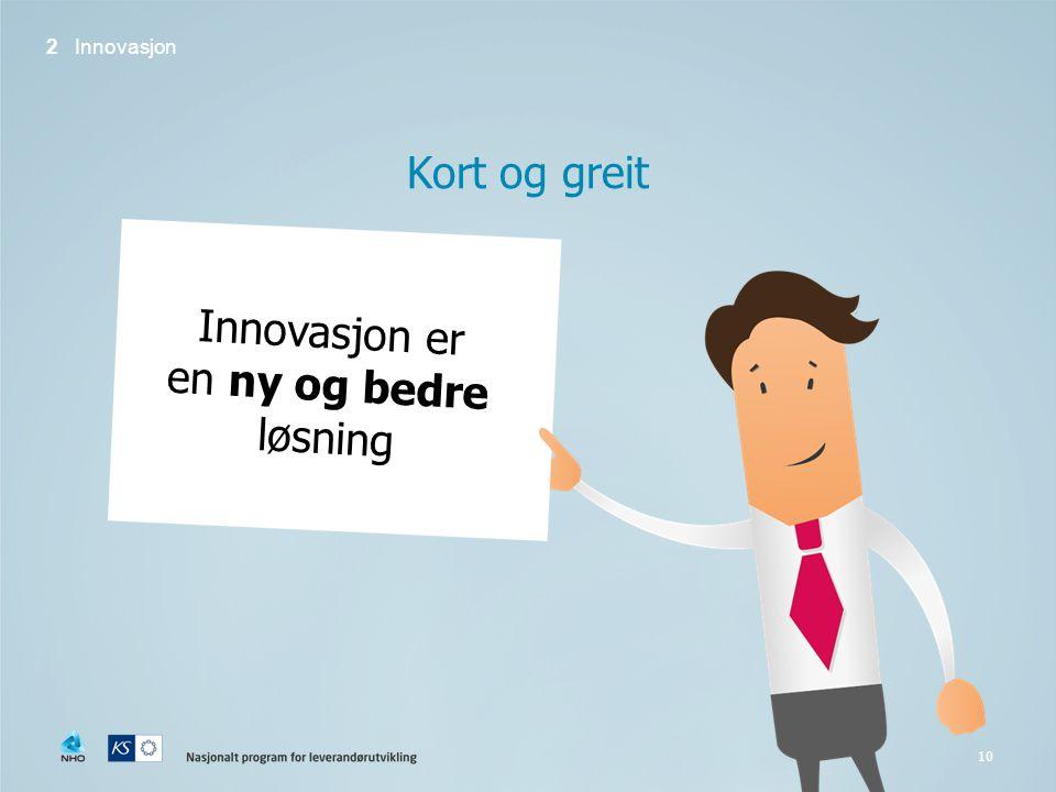 Innovasjon er en ny og bedre løsning