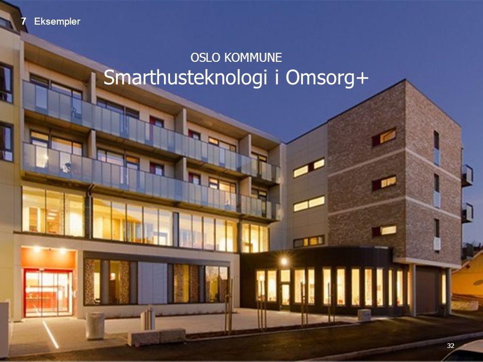 OSLO KOMMUNE Smarthusteknologi i Omsorg+