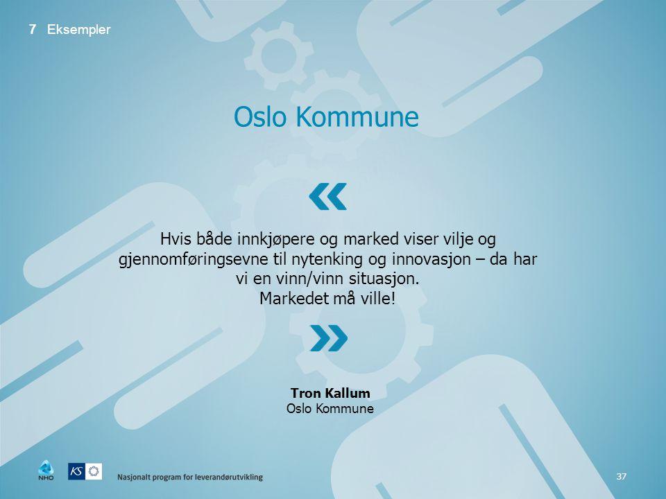 7 Eksempler Oslo Kommune.