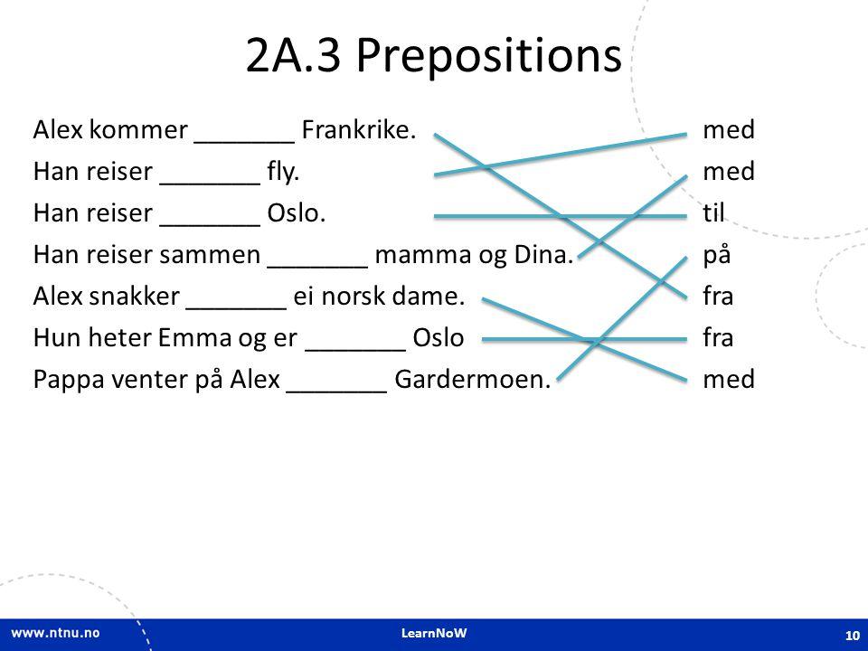 2A.3 Prepositions