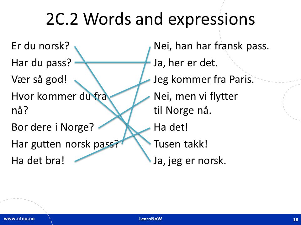 2C.2 Words and expressions