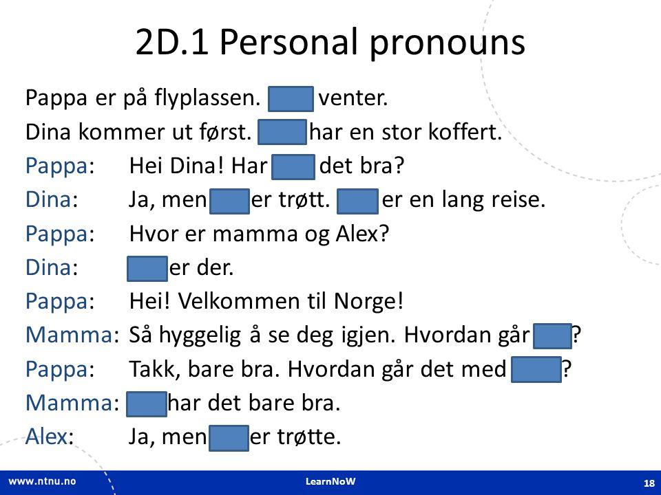 2D.1 Personal pronouns