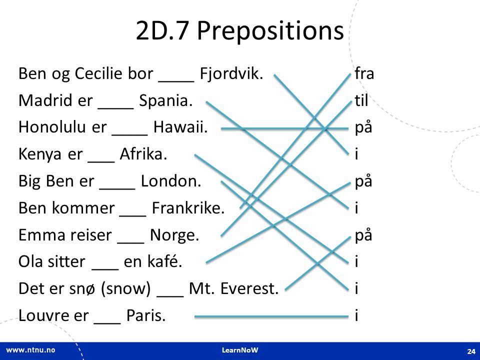 2D.7 Prepositions