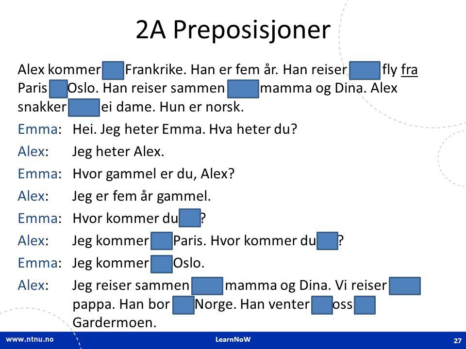 2A Preposisjoner