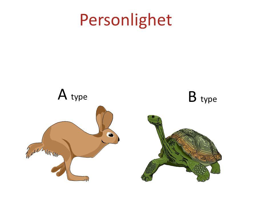 Personlighet A type B type Tema: Stressmestring og personlighet