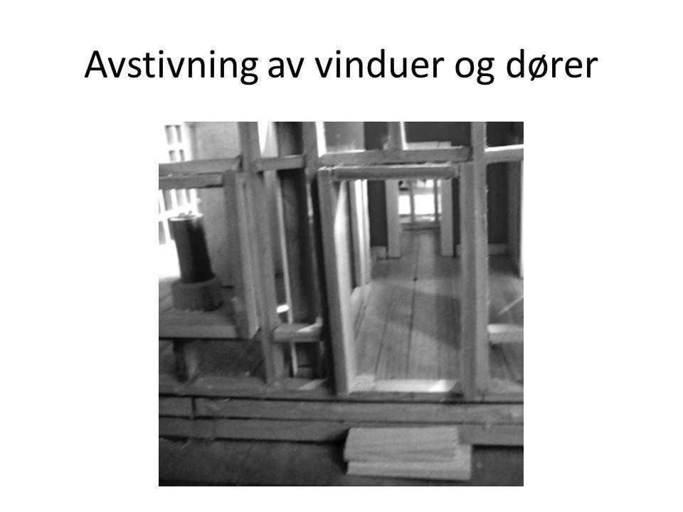 Avstivning av vinduer og dører