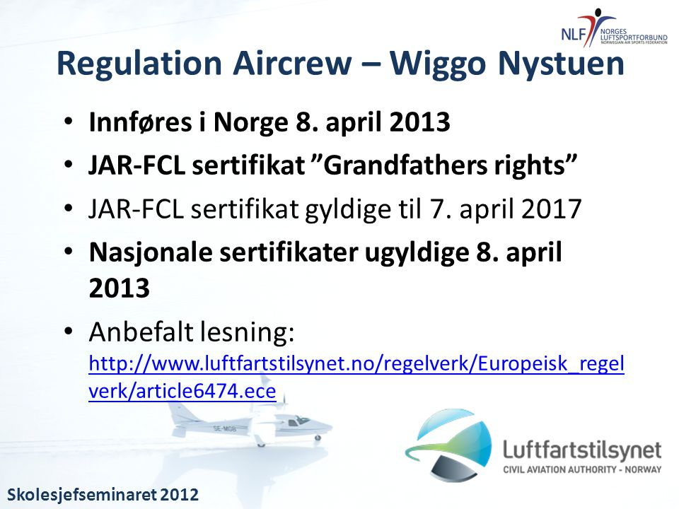 Regulation Aircrew – Wiggo Nystuen