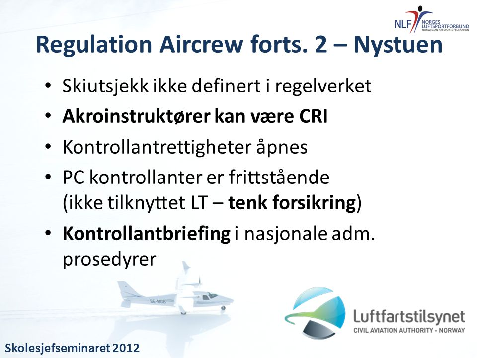 Regulation Aircrew forts. 2 – Nystuen