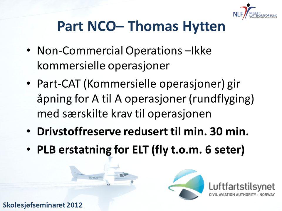 Part NCO– Thomas Hytten