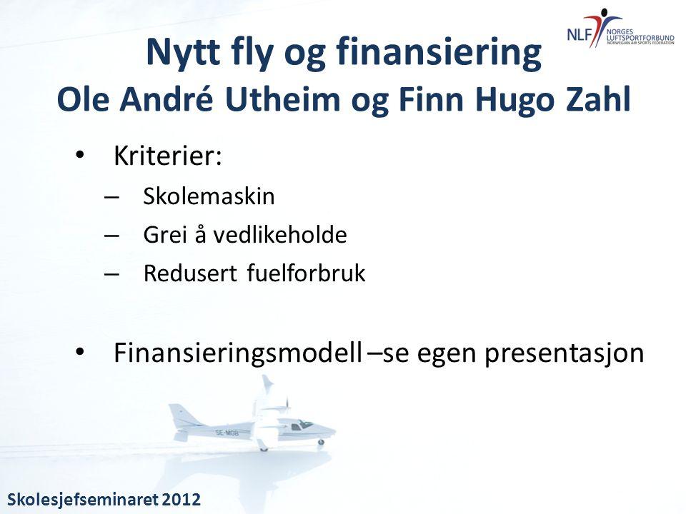 Nytt fly og finansiering Ole André Utheim og Finn Hugo Zahl