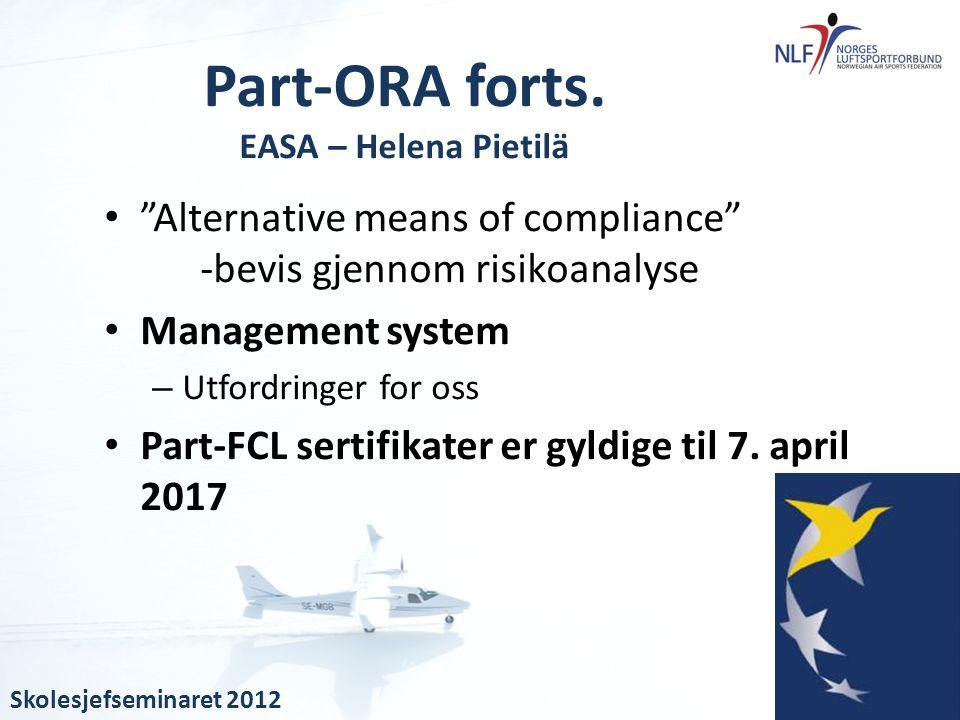 Part-ORA forts. EASA – Helena Pietilä
