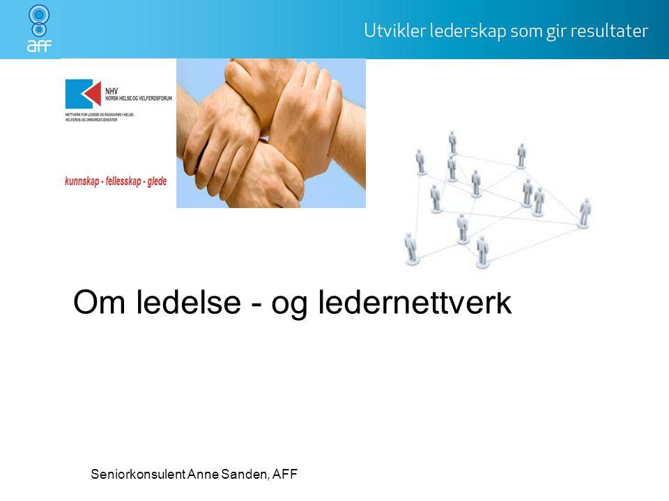 Om ledelse - og ledernettverk