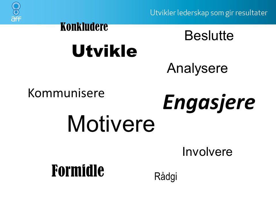 Engasjere Motivere Utvikle Formidle Beslutte Analysere Kommunisere