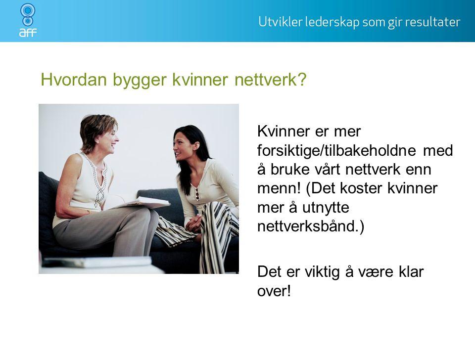 Hvordan bygger kvinner nettverk