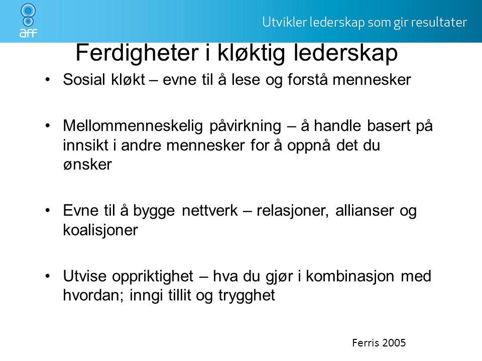 Ferdigheter i kløktig lederskap