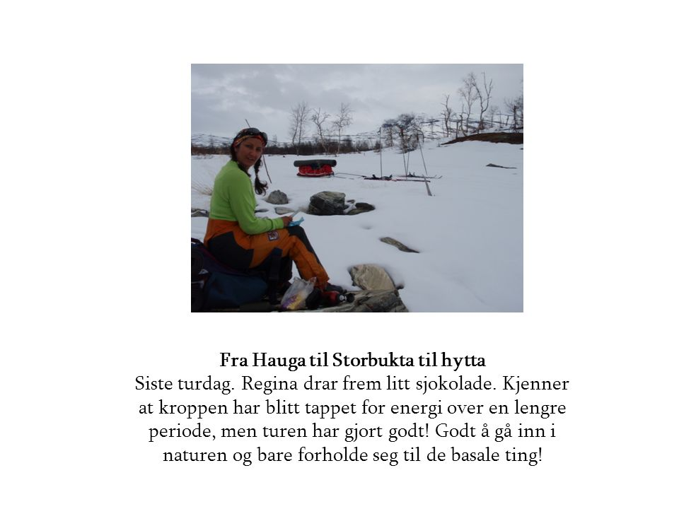 Fra Hauga til Storbukta til hytta Siste turdag