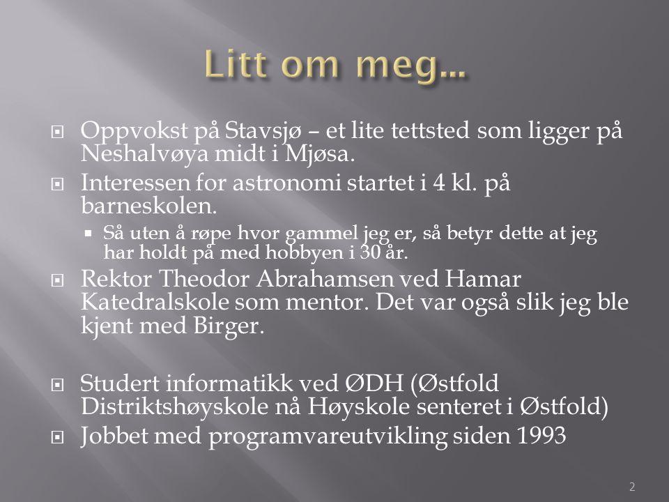 Litt om meg... Oppvokst på Stavsjø – et lite tettsted som ligger på Neshalvøya midt i Mjøsa.