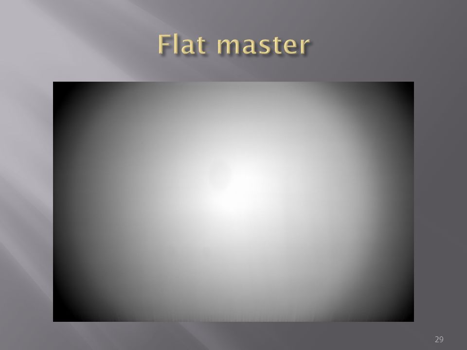 Flat master