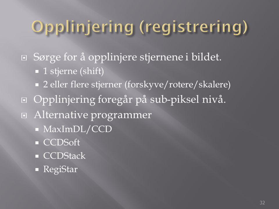 Opplinjering (registrering)