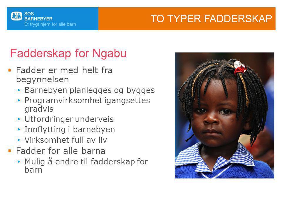 Fadderskap for Ngabu To typer fadderskap