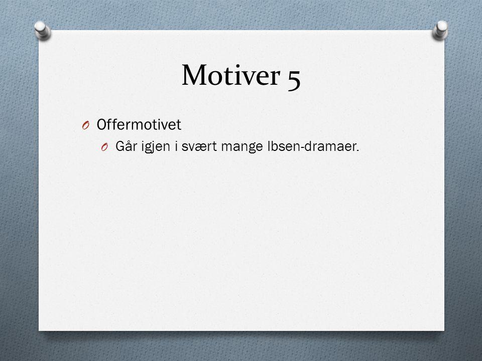 Motiver 5 Offermotivet Går igjen i svært mange Ibsen-dramaer.