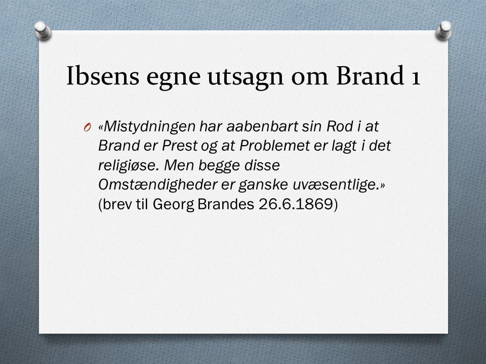 Ibsens egne utsagn om Brand 1