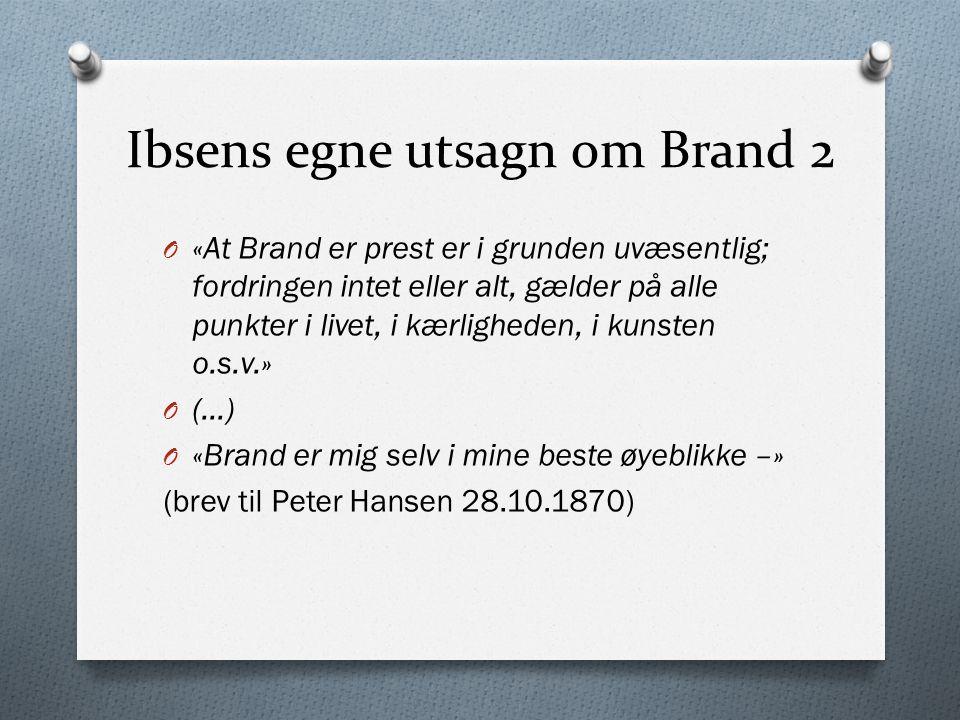Ibsens egne utsagn om Brand 2