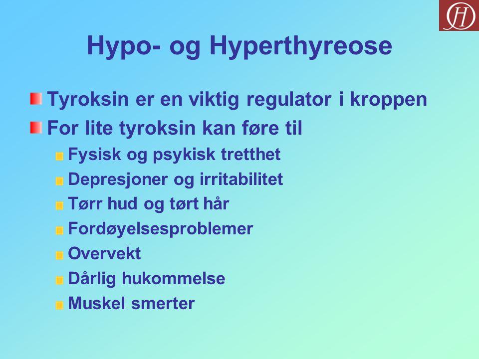 Hypo- og Hyperthyreose
