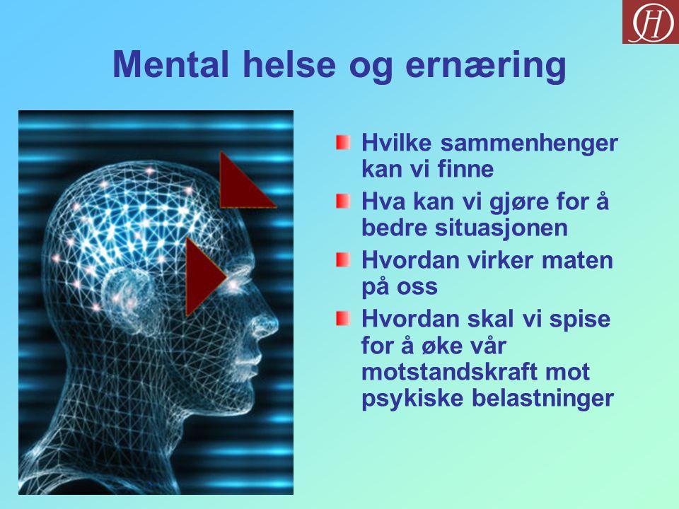 Mental helse og ernæring