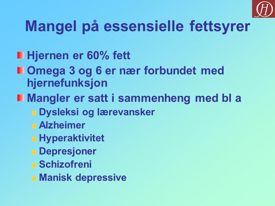 Mangel på essensielle fettsyrer