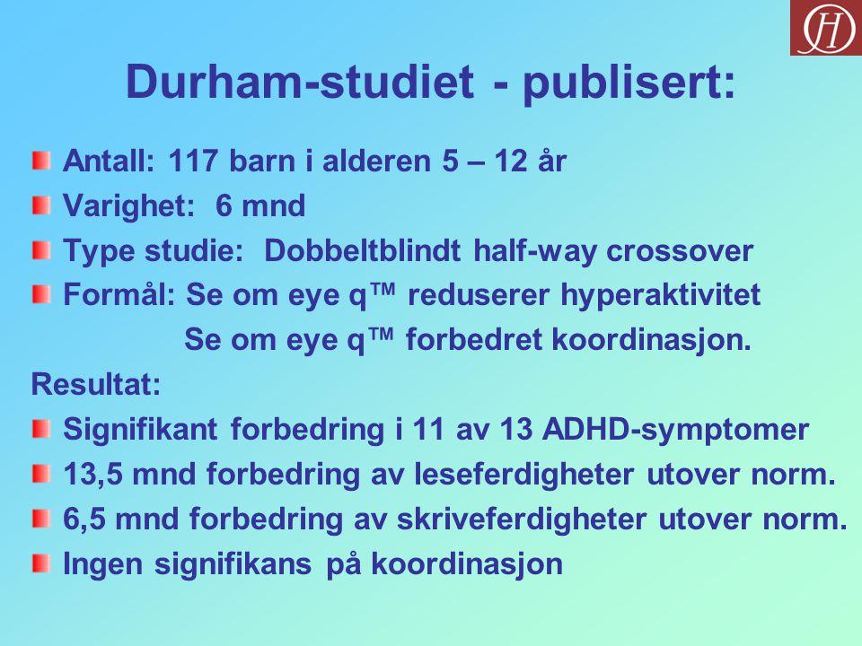 Durham-studiet - publisert: