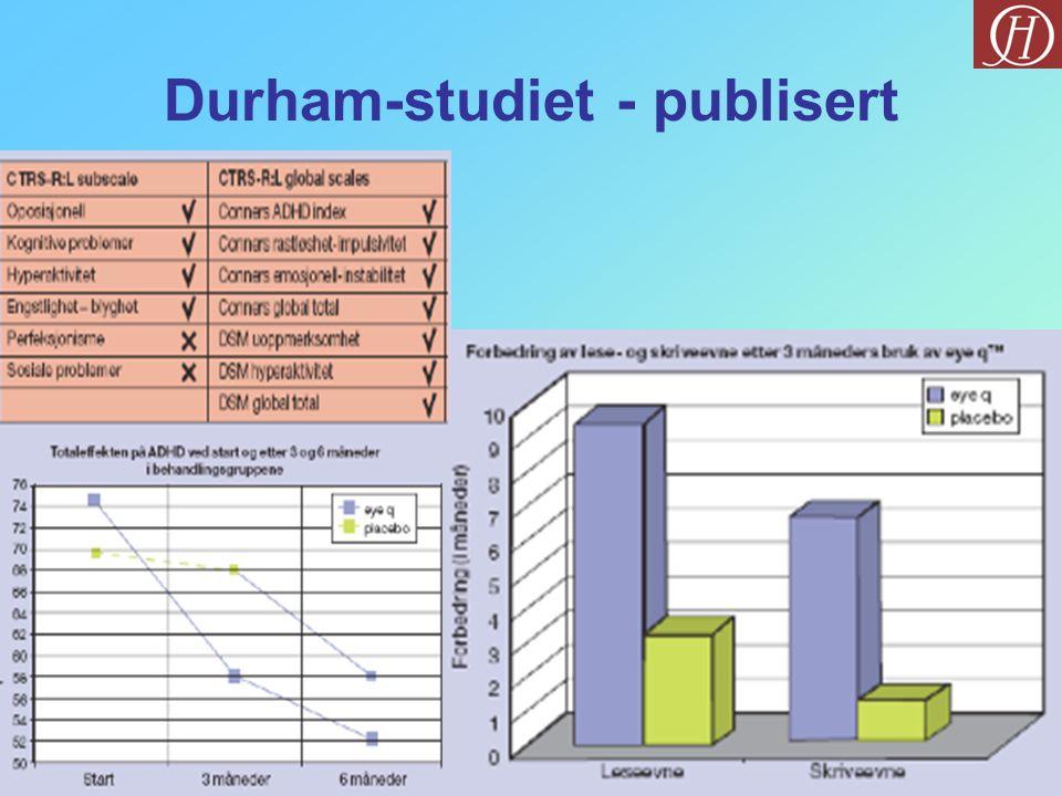 Durham-studiet - publisert
