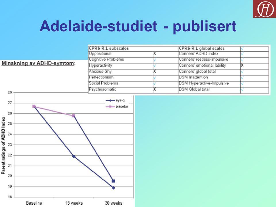 Adelaide-studiet - publisert