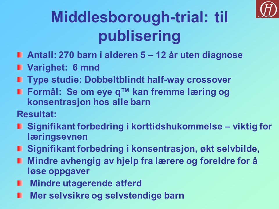 Middlesborough-trial: til publisering