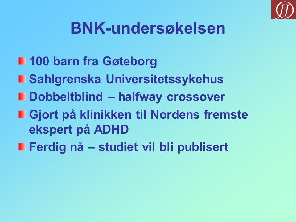 BNK-undersøkelsen 100 barn fra Gøteborg