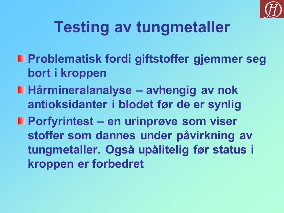 Testing av tungmetaller