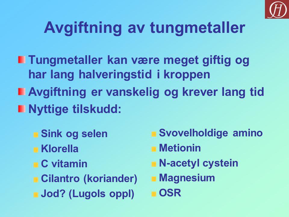 Avgiftning av tungmetaller