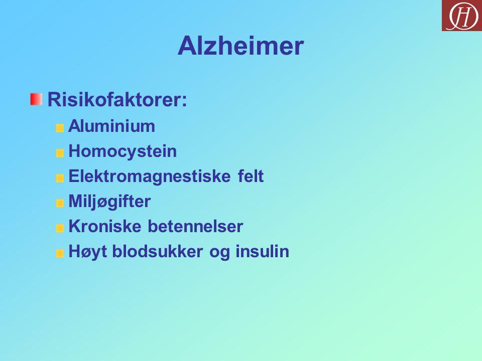 Alzheimer Risikofaktorer: Aluminium Homocystein